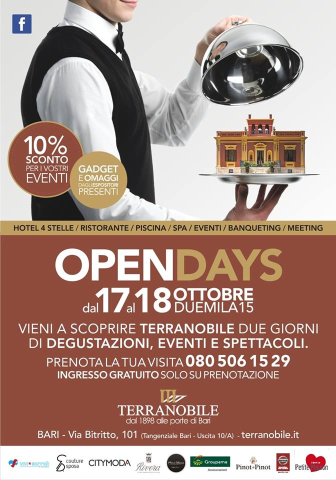Open Days Terranobile Metaresort - 17 e 18 Ottobre 2015