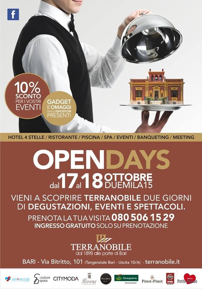Open Days Terranobile Metaresort – 17 e 18 Ottobre 2015