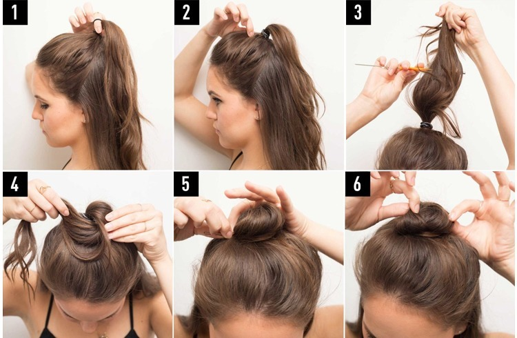 half-bun-tutorial