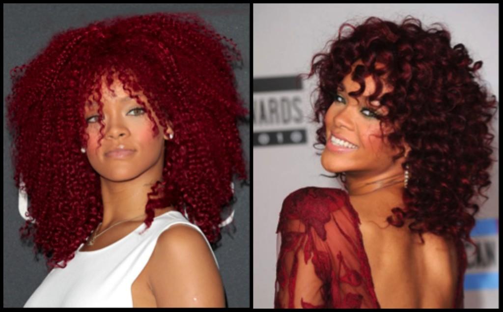 Rihanna Afro Hair