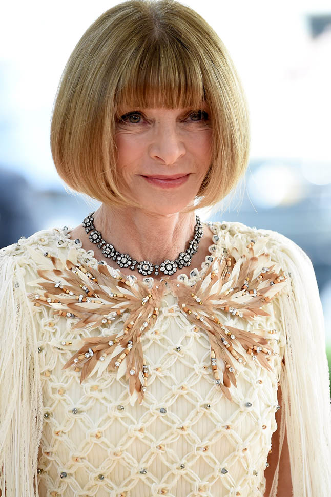 """NEW YORK, NY - MAY 02: : Editor-in-chief of American Vogue Anna Wintour attends """"Manus x Machina: Fashion In An Age Of Technology"""" Costume Institute Gala at Metropolitan Museum of Art on May 2, 2016 in New York City. (Photo by Kevin Mazur/WireImage)"""